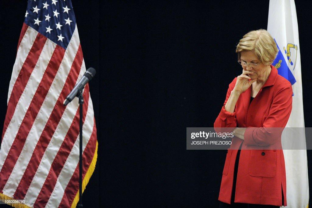 US-POLITICS-WARREN-TOWN_HALL : Nyhetsfoto