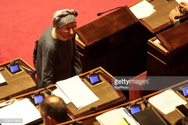 Senator Emma Bonino in the Senate Chamber in Rome Italy on February 12 2020