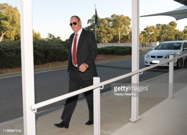 Senator Fraser Anning arrives at Parliament House on April 03 2019 in Canberra Australia Senator Anning is facing a censure motion over his comments...