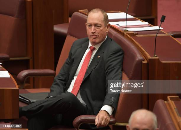 Senator Fraser Anning in the Senate at Parliament House on April 03 2019 in Canberra Australia Senator Anning is facing a censure motion over his...