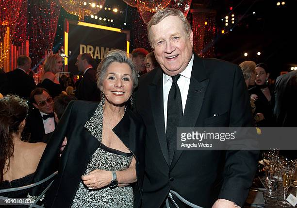 Senator from California Barbara Boxer and SAG/AFTRA president Ken Howard attend the 20th Annual Screen Actors Guild Awards at The Shrine Auditorium...