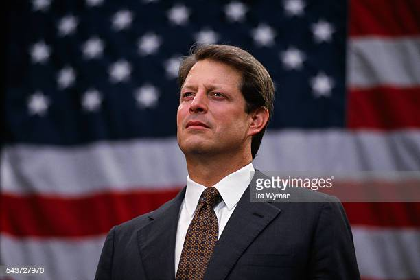 Senator from Tennessee and Bill Clinton's running mate Al Gore campaigns in Georgia   Location Sylvester Georgia USA