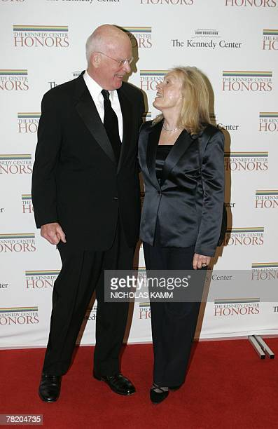 US Senator from Vermont Patrick Leahy and his wife arrive at the State Department in Washington 01 December 2007 for the 30th Kennedy Center Honors...