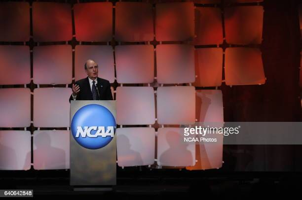 Senator George J Mitchell during the Honors Celebration at the 2010 NCAA Photos via Getty Images Convention held at the Marriott Marquis and the...