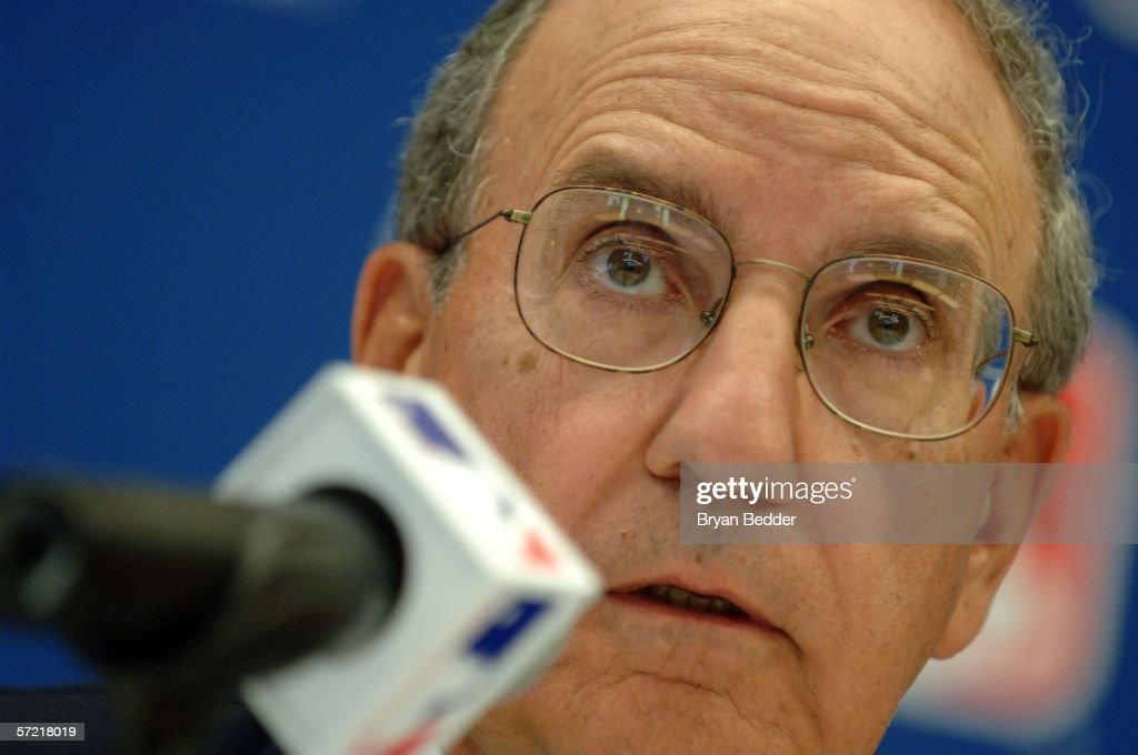 Senator George J. Mitchell speaks during a press conference on steroid use in Major League Baseball March 30, 2006 in New York City.