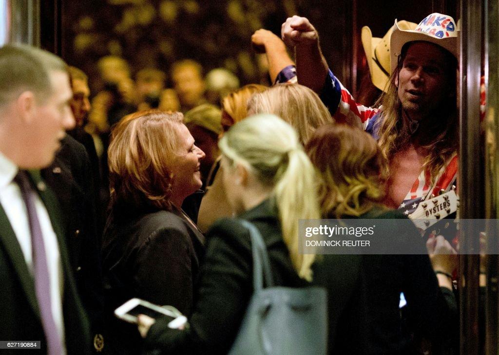 WATCH: Heidi Heitkamp & Naked Cowboy In a Trump Elevator