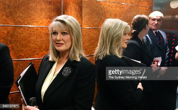 Senator Helen Coonan prior to delivering her speech, Media: Unpacking the Package to the Menzies Research Centre, Sydney on 4 August 2006. SMH NEWS...