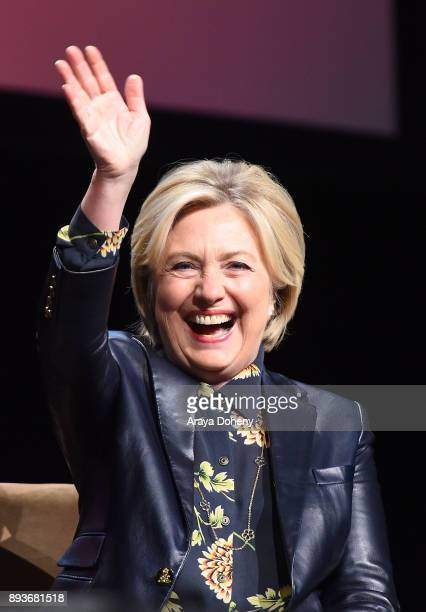 Senator Hillary Clinton attends the LA Promise Fund's Girls Build Leadership Summit at Los Angeles Convention Center on December 15 2017 in Los...