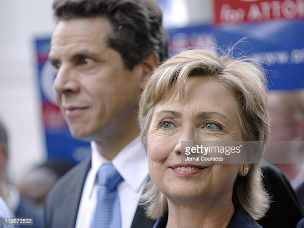 Senator Hillary Rodham Clinton and Andrew Cuomo at the 2006 Columbus Day parade in New York City