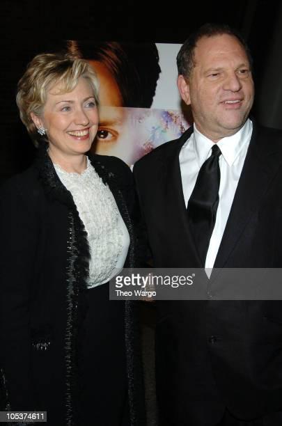 Senator Hillary Rodham Clinton and Harvey Weinstein