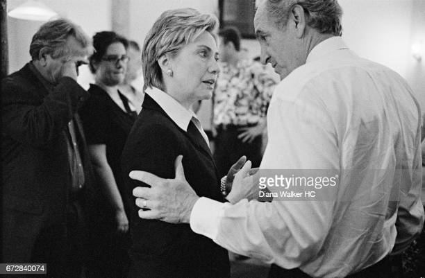 Senator Hillary Rodham Clinton and Senator Tom Harkin are photographed at a dinner for 21st Century Democrats on July 19 2001 in Washington DC CREDIT...