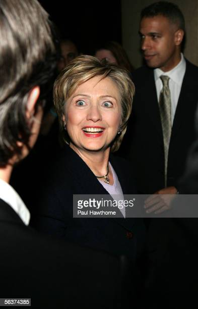 S Senator Hillary Rodham Clinton attends the HetrickMartin Institute's 2005 Emery Awards at Cipriani Wall Street December 7 2005 in New York City
