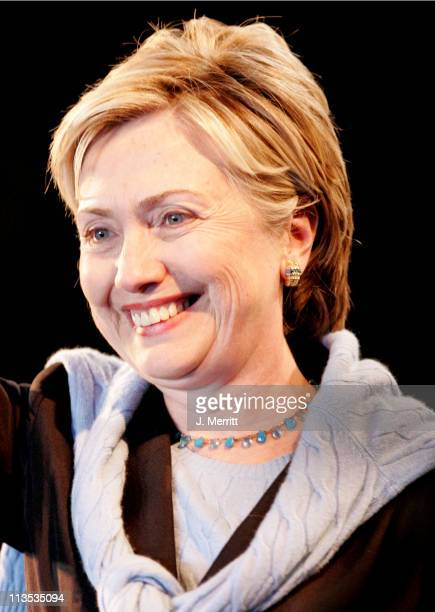 Senator Hillary Rodham Clinton during The Red Hot Chili Peppers Perform as the Democrats Rally to Take Back The Senate at Bergamot Station in Santa...
