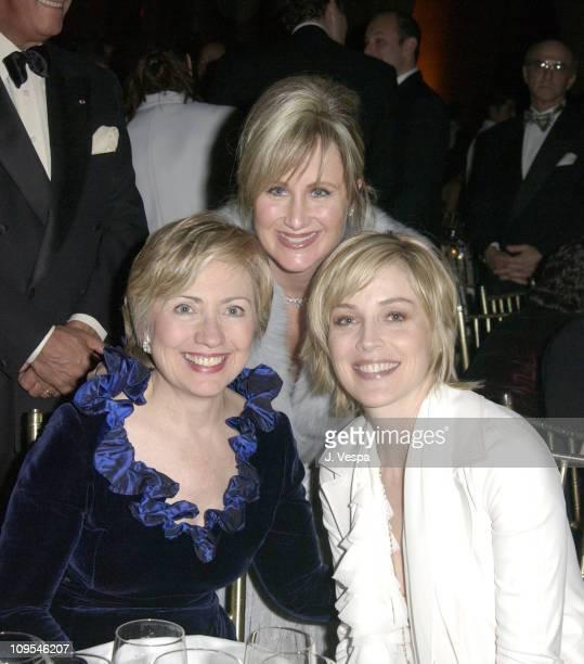 Senator Hillary Rodham Clinton Kelly Stone and Sharon Stone
