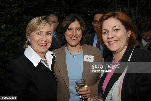 Senator Hillary Rodham Clinton Kim Catullo and Christine Quinn attend Jonathan Sheffer and Dr Christopher Barley Benefit party for Candidates Ted...