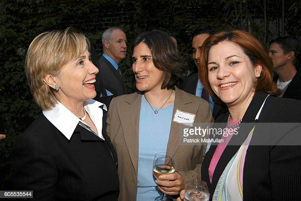 Senator Hillary Rodham Clinton, Kim Catullo and Christine Quinn attend Jonathan Sheffer and Dr. Christopher Barley Benefit party for Candidates Ted...