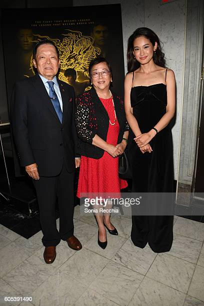 Senator Ho guest and JingJing Qu attend Birth Of A Dragon TIFF premiere and afterparty on September 13 2016 in Toronto Canada