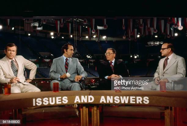Senator Howard Baker Senator Bob Dole Senator Robert P Griffin Bob Clark on ABC's 'Issues and Answers' program at 1976 Republican National Convention...
