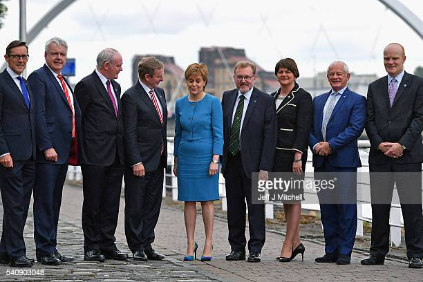Senator Ian Gorst Chief Minister Jersey Government Carwyn Jones First Minister of Wales Martin McGuinness deputy First Minister Taoiseach Enda Kenny...