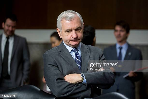 Senator Jack Reed a Democrat from Rhode Island arrives to a Senate Armed Services Committee hearing on the Joint Comprehensive Plan of Action...