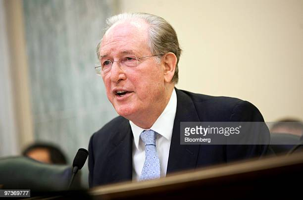 Senator Jay Rockefeller chairs a hearing of the Senate Commerce Science and Transportation Committee on recalls by Toyota Motor Corp in Washington DC...