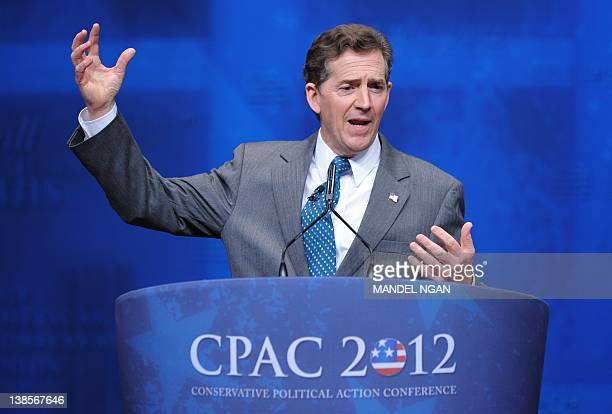 Senator Jim DeMint RSC speaks during an address to the 39th Conservative Political Action Committee February 9 2012 at a hotel in Washington DC AFP...