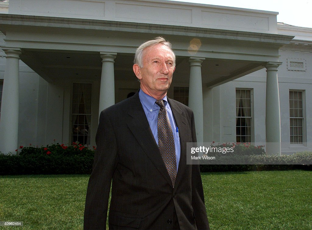 U.S. Senator Jim Jeffords (I-VT) walks out of the West Wing of the White House June 28, 2001 in Washington, DC. Jeffords announced he will not seek re-election when his term ends in 2006.