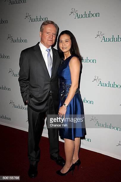 Senator Jim Webb and Hong Webb attend 2016 National Audubon Society Winter Gala at Cipriani 42nd Street on January 21 2016 in New York City