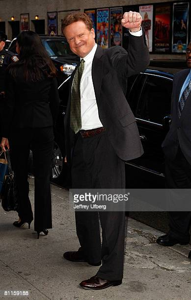 Senator Jim Webb departs from his appearance on the Late Show with David Letterman at the Ed Sullivan Theatre on May 19 2008 in New York City