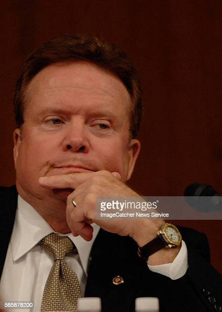 Senator Jim Webb listens to testimony at the Petraeus hearingsThis is the second day of hearings