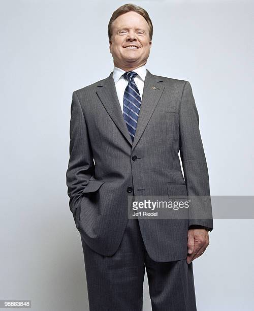 Senator Jim Webb poses at a portrait session for GQ Magazine in Washington DC