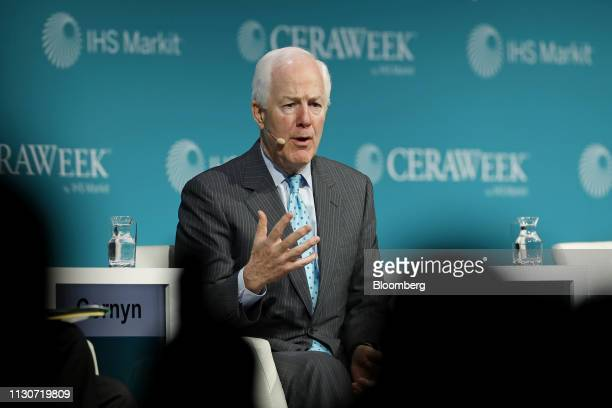 Senator John Cornyn a Republican from Texas speaks during the 2019 CERAWeek by IHS Markit conference in Houston Texas US on Friday March 15 2019 The...