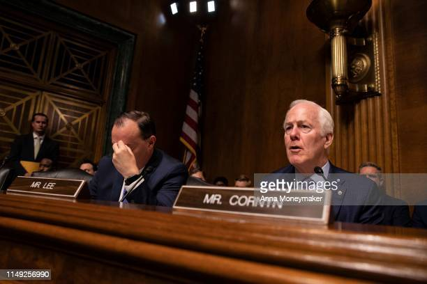 Senator John Cornyn speaks during a Senate Judiciary Committee hearing with Acting Homeland Security Secretary Kevin McAleenan on Capitol Hill on...