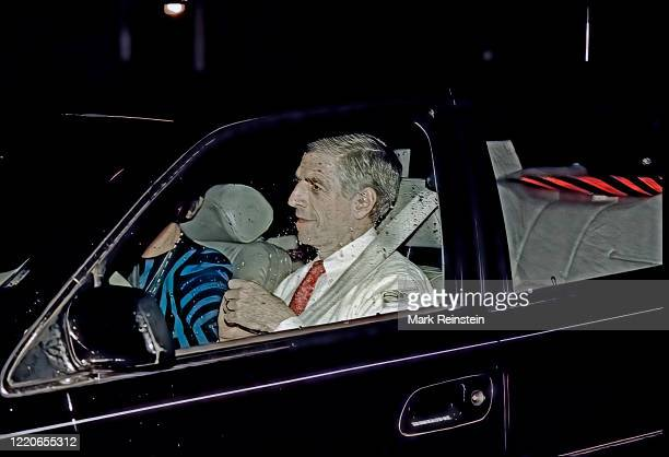 Senator John Danforth arrives at the home of Judge Clarence Thomas to officially inform the Judge that he had been confirmed by a vote of the Senate...