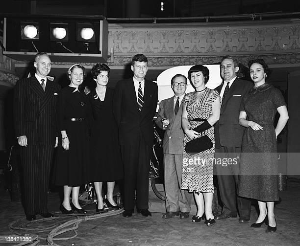 PRESS Senator John F Kennedy Aired Pictured uknown Jacqueline Kennedy Senator John F Kennedy Lawrence Spivak unknowns