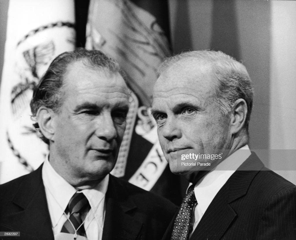 Senator John Glenn Stands With Attorney Edward Bennett
