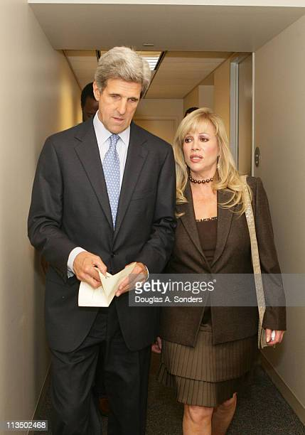 """Senator John Kerry and Daphna Ziman during """"Children Uniting Nations Second Annual National Conference"""" at Woodrow Wilson International Center for..."""
