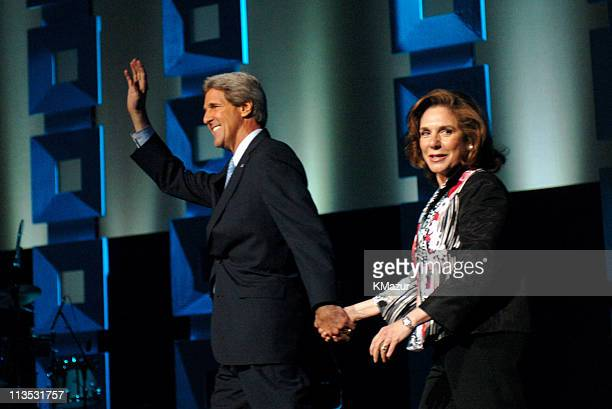 Senator John Kerry and Teresa Heinz Kerry onstage at Radio City Music Hall in New York City for A Change Is Going To Come The Concert for John Kerry...