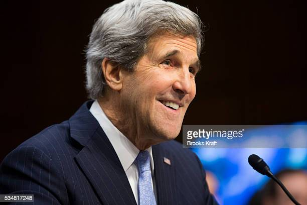 US Senator John Kerry appears before the Senate Foreign Relations Committee at his confirmation hearing to be Secretary of State on Capitol Hill in...