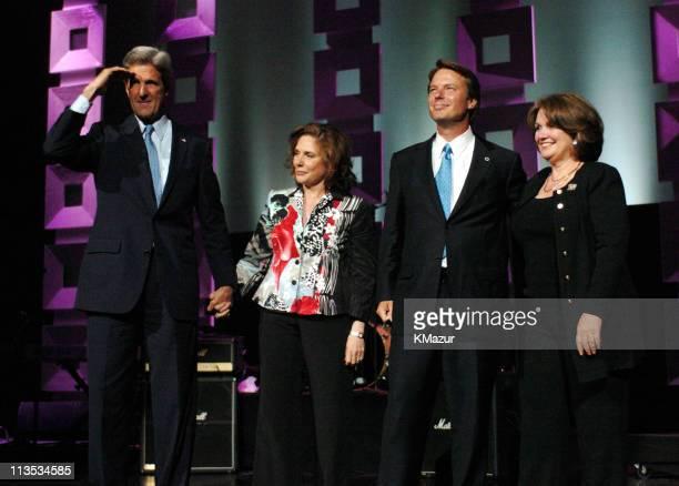 Senator John Kerry Teresa Heinz Kerry Senator John Edwards and Elizabeth Edwards onstage at Radio City Music Hall in New York City for A Change Is...