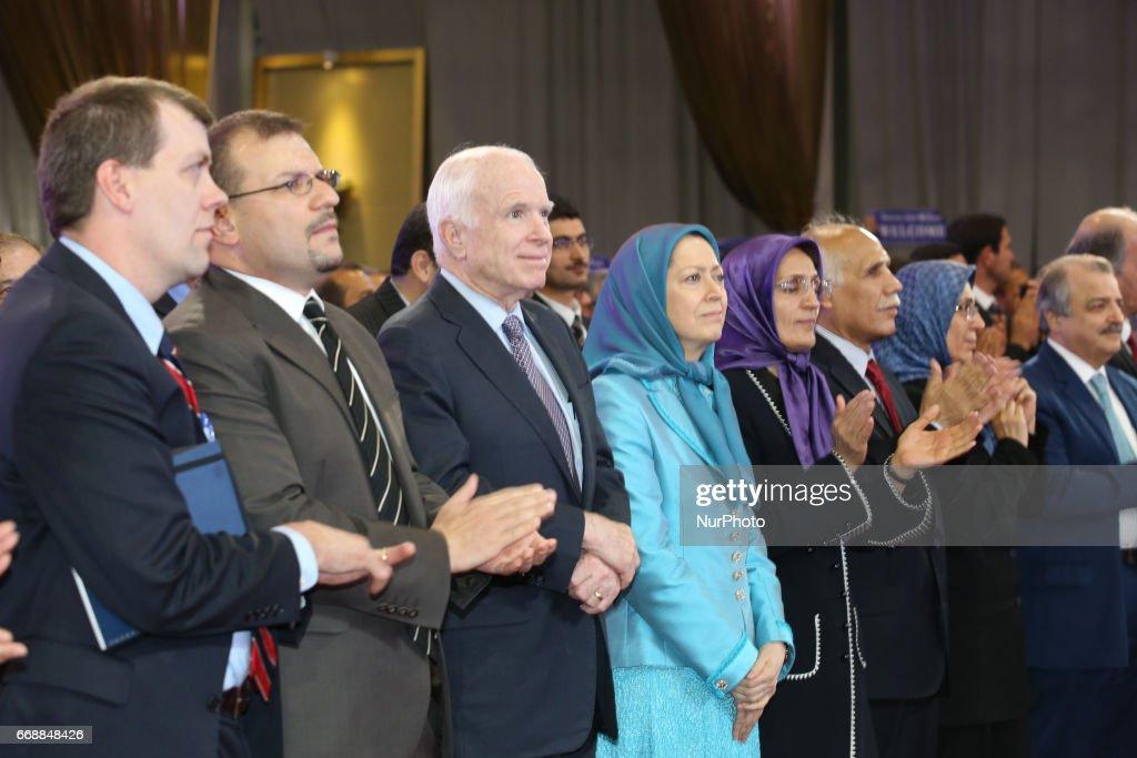 Senator John McCain meet Maryam Rajavi in Tirana