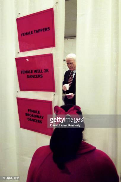 Senator John McCain backstage at the Lincoln Memorial New Year's celebration Washington DC January 1 2000
