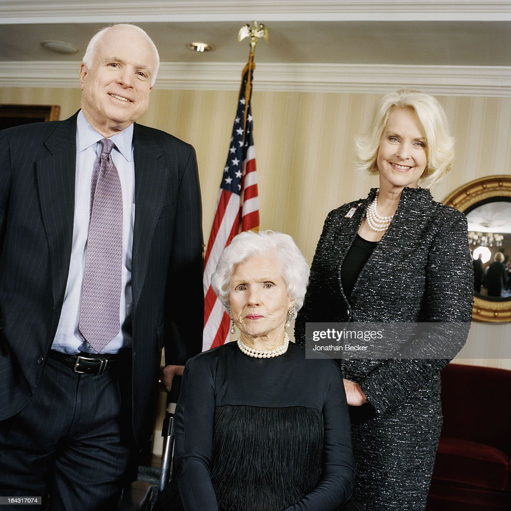 John Mccain Latest News Photos And Videos: Senator John McCain, His Mother, Roberta McCain And Wife