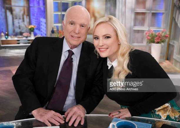 Senator John McCain Meghan McCain on 'The View' a visit for Meghan McCain's birthday Monday October 23 2017
