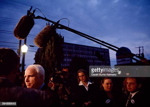 Senator John McCain on the campaign trail January 7 2000 in Columbia South Carolina