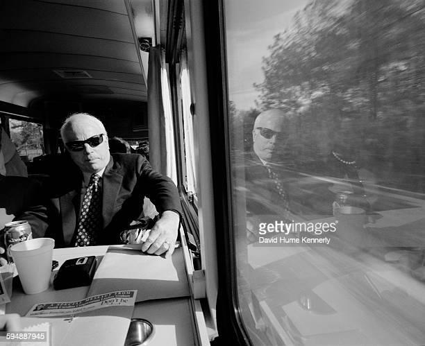 Senator John McCain on 'The Straight Talk Express' January 7 2000 in Columbia South Carolina