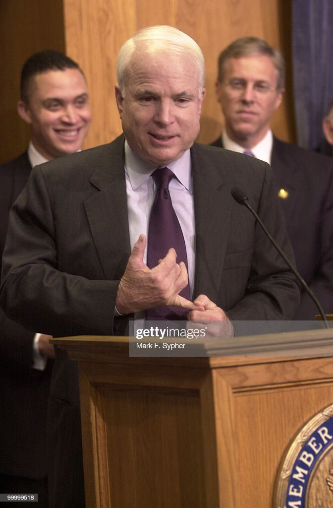 Senator John McCain R-Ariz., joined the Blue Dog Coalition at a press conference on Thursday to endorse their support of the Shays-Meehan bill.