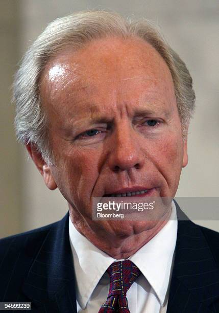 Senator Joseph Lieberman of Connecticut questions Army Lieutenant General David Petraeus during a confirmation hearing on Petraeus' nomination to be...