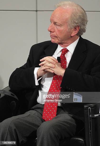 US senator Joseph Lieberman participates in a panel discussion during day 3 of the 48th Munich Security Conference at Hotel Bayerischer Hof on...