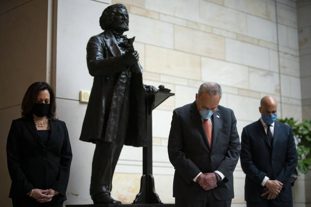 DC: Democratic Senators Gather For A Moment Of Silence In Emancipation Hall